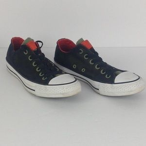 Green and Black Low Top Converse All Stars